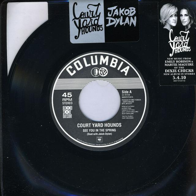 Jakob / Courtyard Hounds Dylan SEE YOU IN THE SPRING / EVERYBODY'S HURTING Vinyl Record
