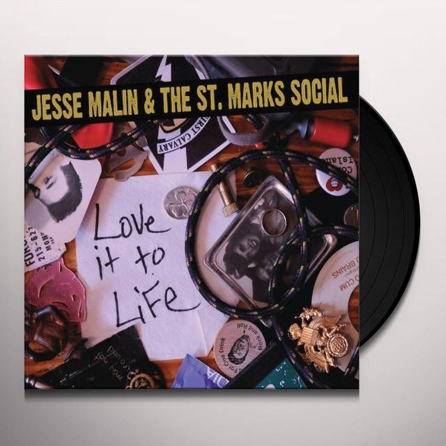 Jesse Malin & St Marks Social LOVE IT TO LIFE Vinyl Record