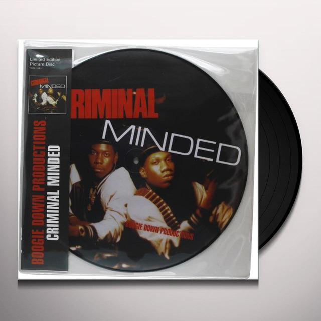 Boogie Down Productions CRIMINAL MINDED Vinyl Record - Picture Disc