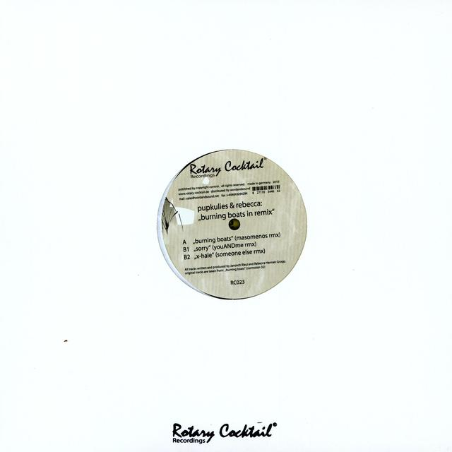 Pupkulies & Rebecca BURNING BOATS IN REMIX (EP) Vinyl Record