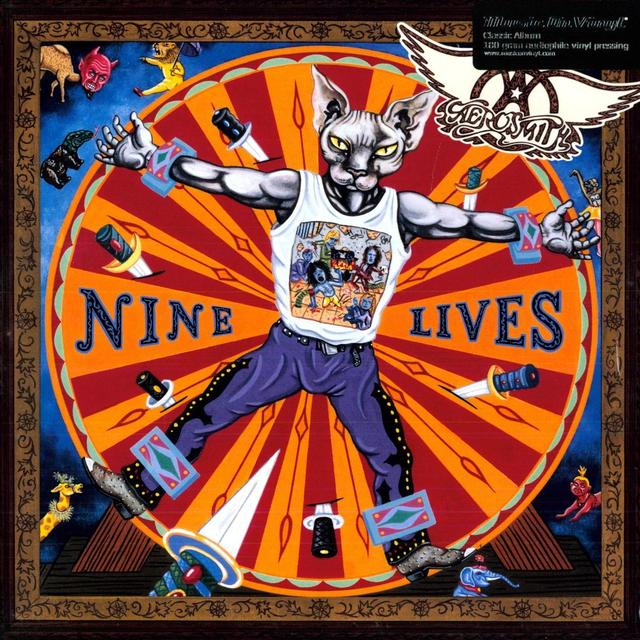 Aerosmith NINE LIVES Vinyl Record