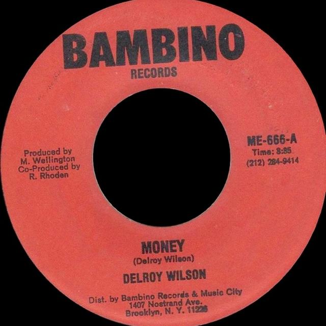 Delroy Wilson MONEY Vinyl Record