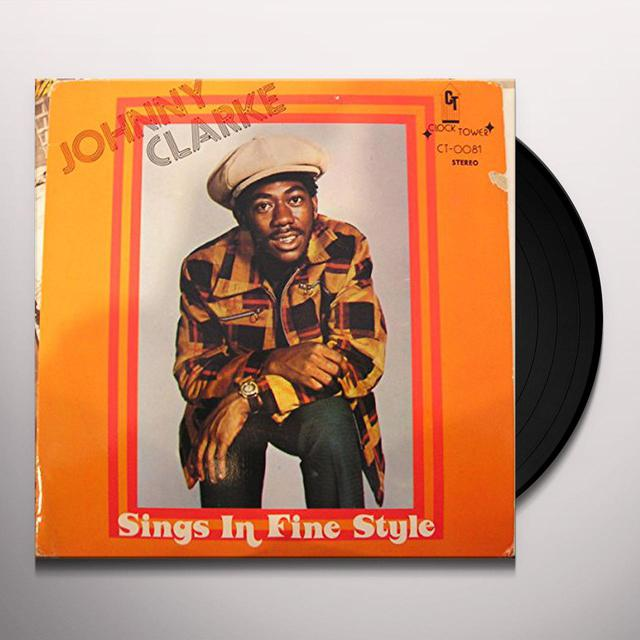 Johnny Clarke SINGS IN FINE STYLE Vinyl Record
