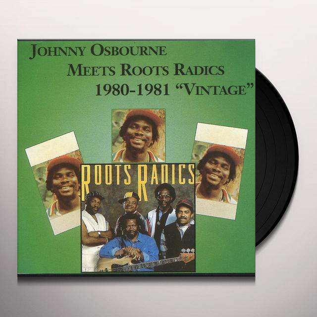 Johnny Osbourne MEETS ROOTS RADICS 1980-1981 Vinyl Record