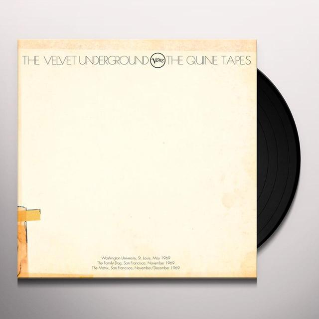 Velvet Underground QUINE TAPES Vinyl Record