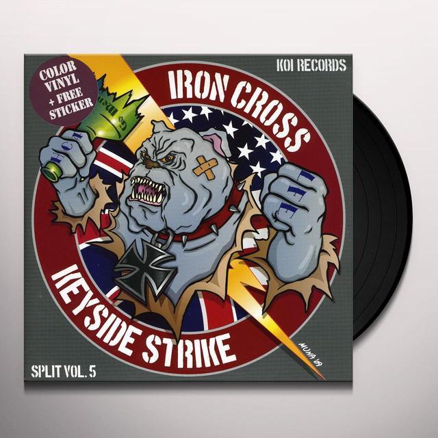 Iron Cross / Keyside Strike KOI SPLITS SERIES 5 Vinyl Record