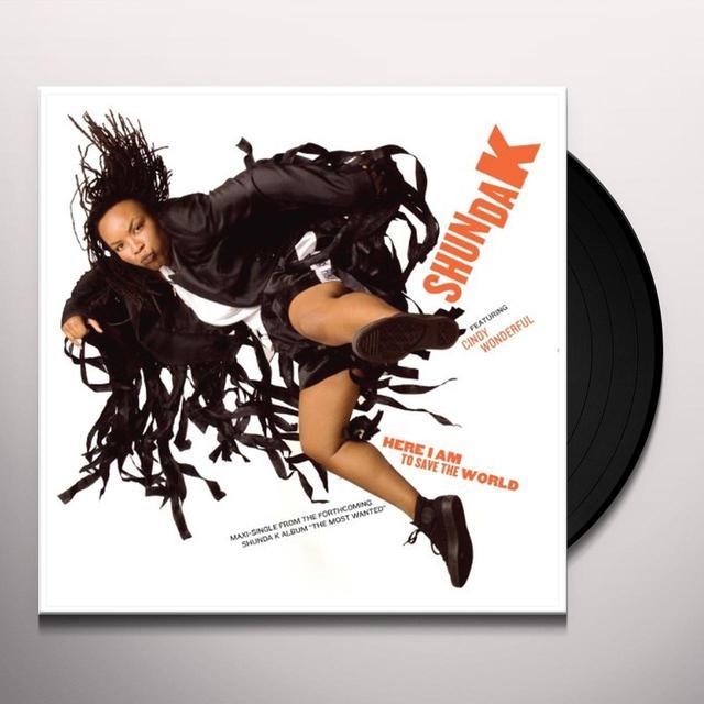 Shunda K HERE I AM TO SAVE THE WORLD Vinyl Record