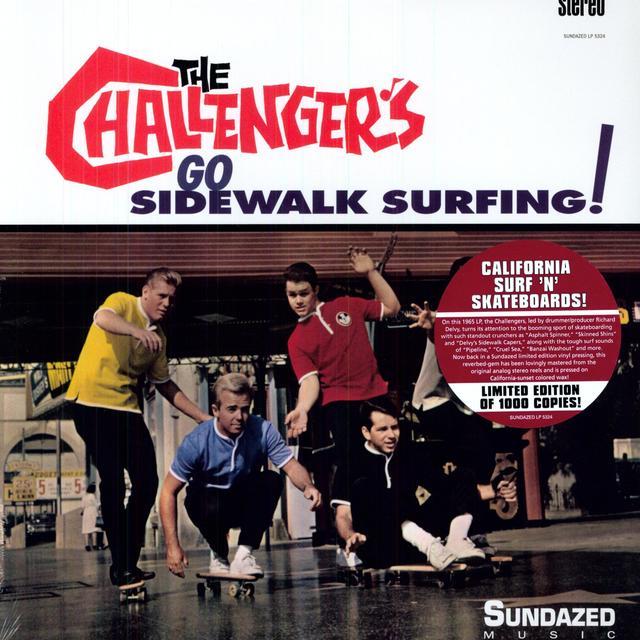 Challengers GO SIDEWALK SURFING Vinyl Record - Colored Vinyl, Limited Edition