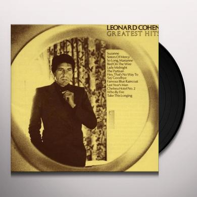 Leonard Cohen GREATEST HITS Vinyl Record - 180 Gram Pressing