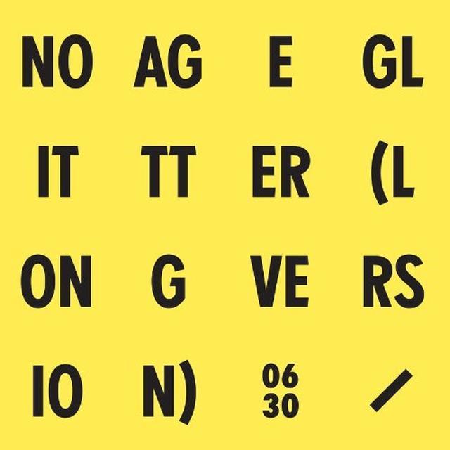 No Age GLITTER Vinyl Record