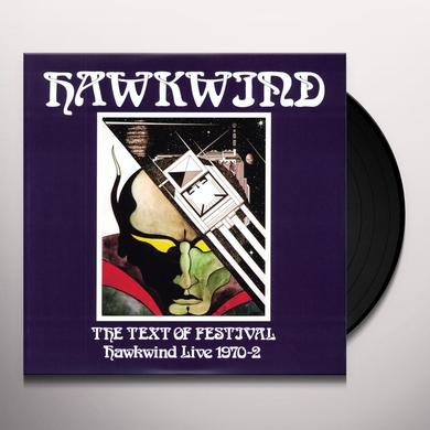 Hawkwind TEXT OF A FESTIVAL Vinyl Record