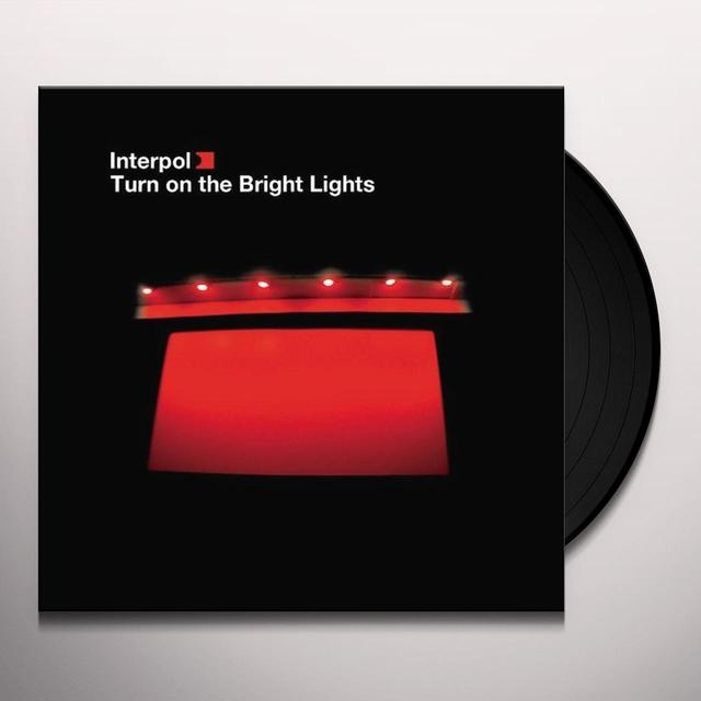 Interpol TURN ON THE BRIGHT LIGHT Vinyl Record - MP3 Download Included
