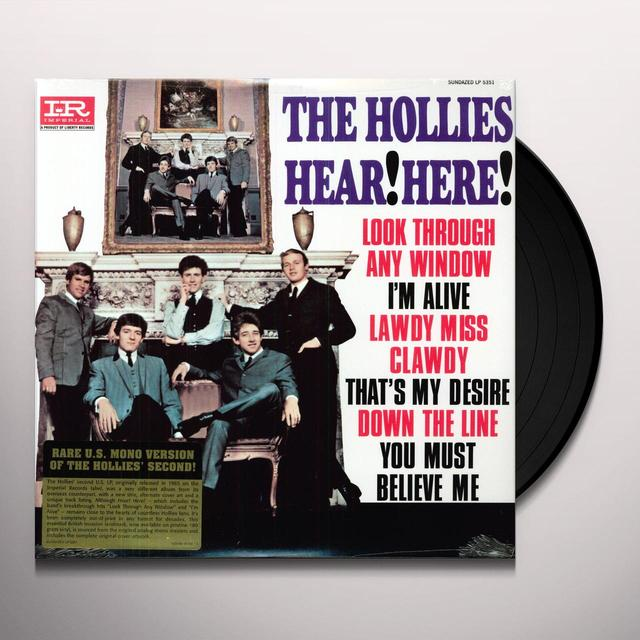 The Hollies HEAR HERE Vinyl Record