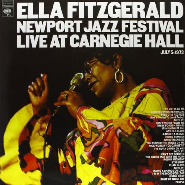 Ella Fitzgerald NEWPORT JAZZ FESTIVAL LIVE AT CARNEGIE HALL Vinyl Record - 180 Gram Pressing