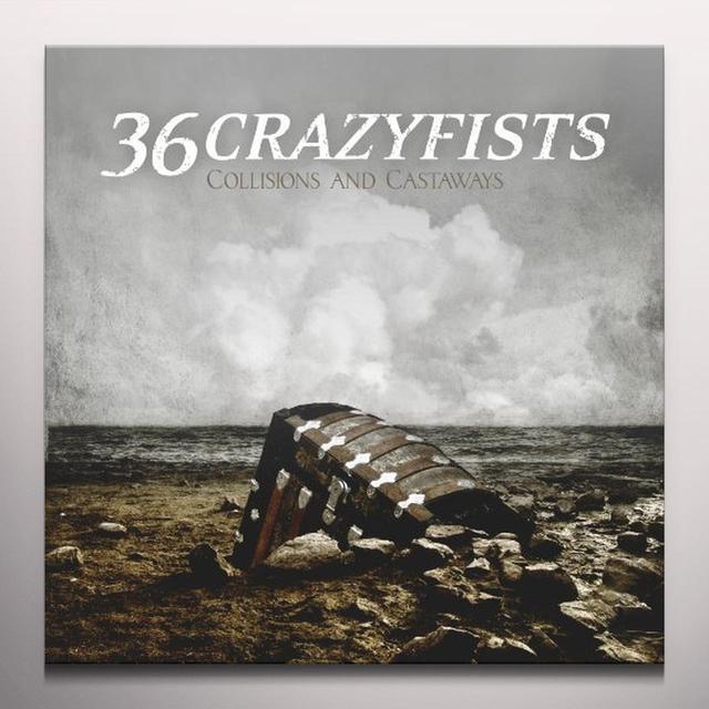 36 Crazyfists COLLISIONS & CASTAWAYS Vinyl Record - Colored Vinyl