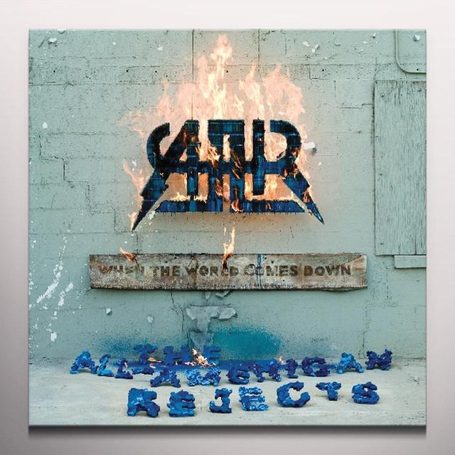 The All-American Rejects WHEN THE WORLD COMES DOWN Vinyl Record - Blue Vinyl, Clear Vinyl, Reissue