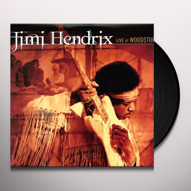 Jimi Hendrix LIVE AT WOODSTOCK Vinyl Record - 180 Gram Pressing