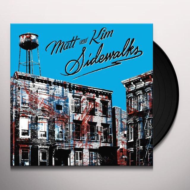 Matt & Kim SIDEWALKS Vinyl Record - 180 Gram Pressing