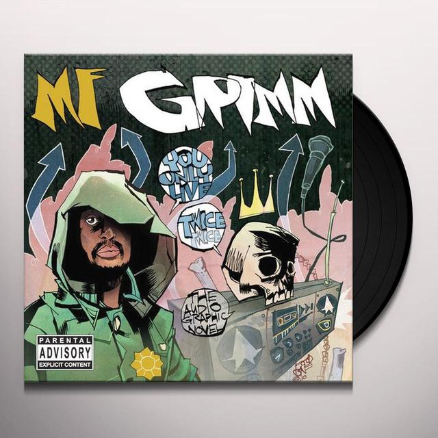 Mf Grimm YOU ONLY LIVE TWICE Vinyl Record