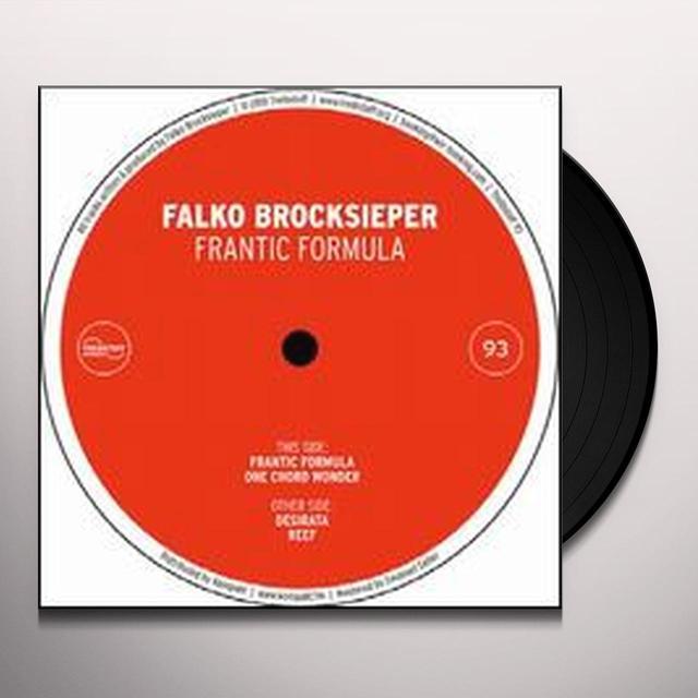 Falko Brocksieper FRANTIC FORMULA (EP) Vinyl Record