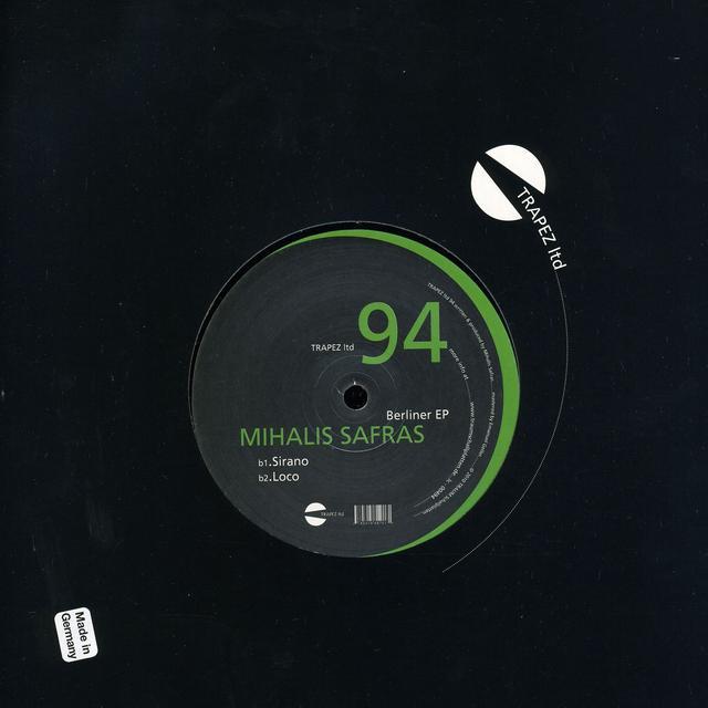 Mihalis Safras BERLINER (EP) Vinyl Record