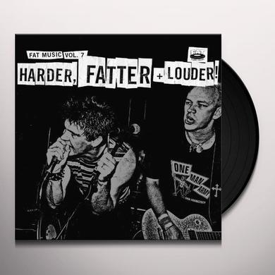 FAT MUSIC 7: HARDER FATTER & LOUDER / VARIOUS Vinyl Record