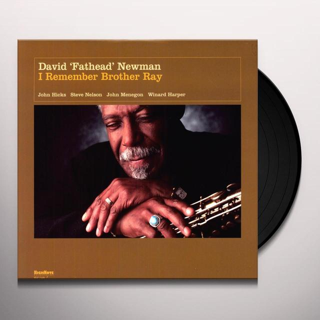 David Newman I REMEMBER BROTHER RAY Vinyl Record - 180 Gram Pressing