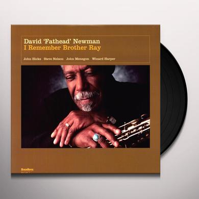 David Newman I REMEMBER BROTHER RAY Vinyl Record - 180 Gram Pressing