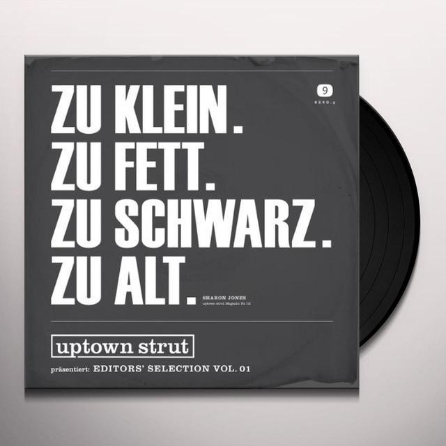 UPTOWN STRUT: EDITOR'S SELECTION 1 / VARIOUS Vinyl Record