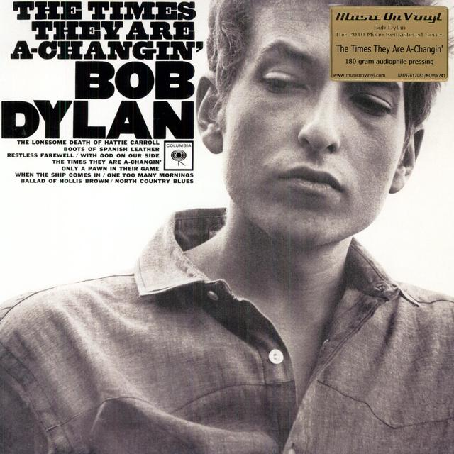 Bob Dylan TIMES THEY ARE A CHANGIN Vinyl Record - 180 Gram Pressing, Remastered