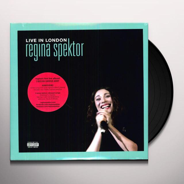 Regina Spektor LIVE IN LONDON Vinyl Record