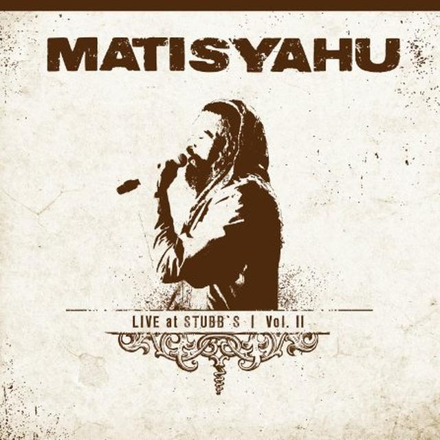 Matisyahu LIVE AT STUBBS 2 Vinyl Record