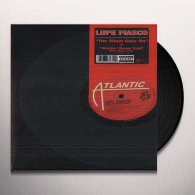 Lupe Fiasco SHOW GOES ON Vinyl Record