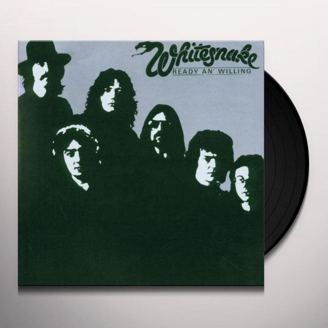 Whitesnake READY & WILLING Vinyl Record - Limited Edition, 180 Gram Pressing