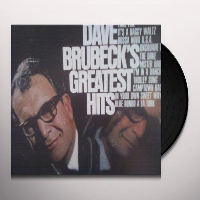 DAVE BRUBECK'S GREATEST HITS Vinyl Record