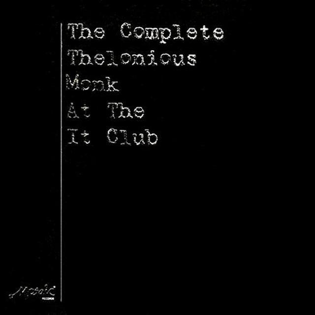 COMPLETE THELONIOUS MONK AT THE IT CLUB Vinyl Record