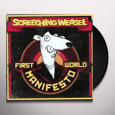 Screeching Weasel FIRST WORLD MANIFESTO Vinyl Record