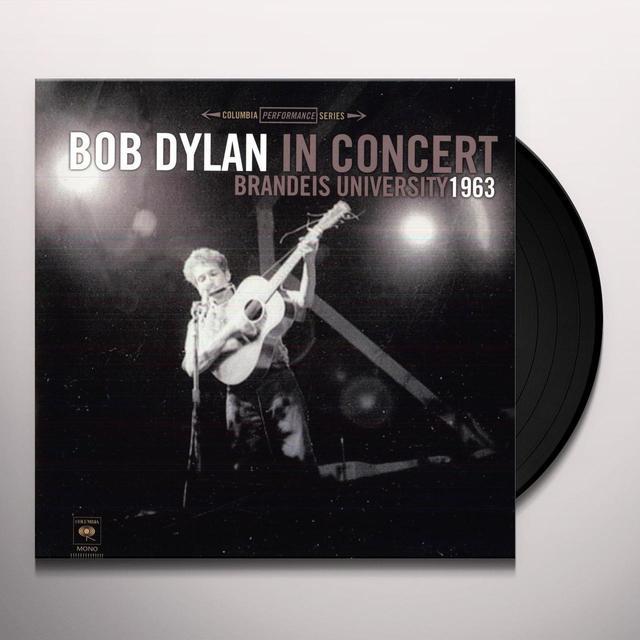 BOB DYLAN IN CONCERT: BTANDEIS UNIVERSITY 1963 Vinyl Record