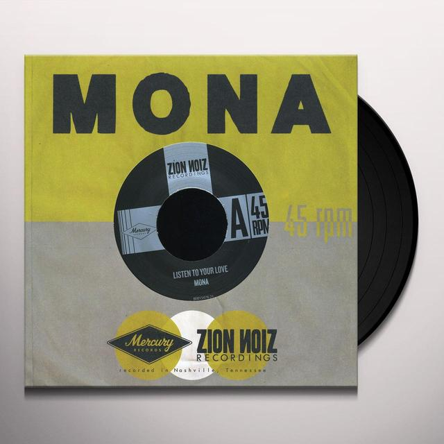 Mona LISTEN TO YOUR LOVE / ALL THIS TIME Vinyl Record