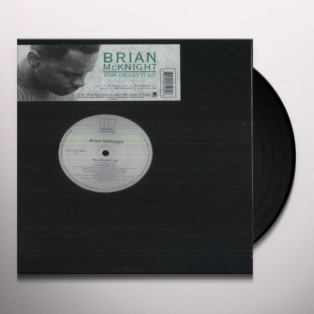 Brian Mcknight STAY OR LET IT GO Vinyl Record