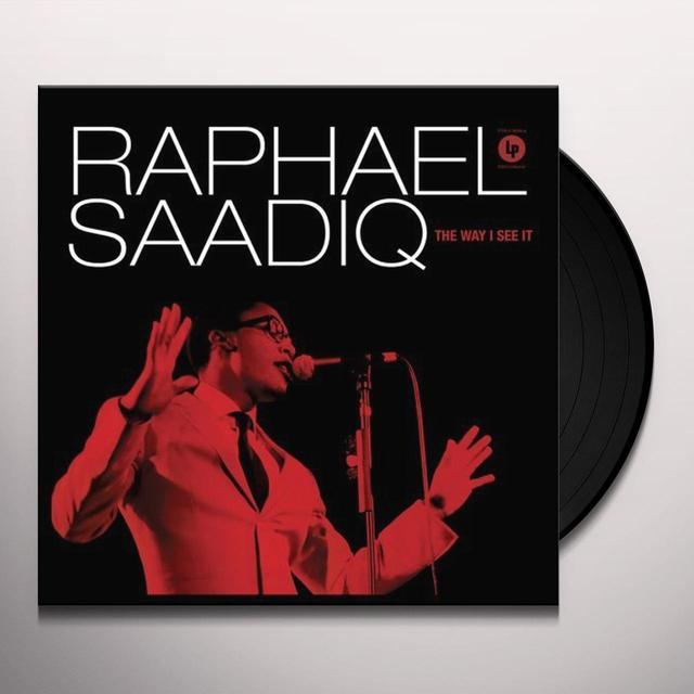 Raphael Saadiq WAY I SEE IT (BOX) Vinyl Record