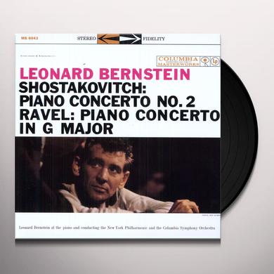 Leonard Shostakovitch / Ravel / Bernstein PIANOT CONCERTO 2 / PIANO CONCERTO IN G MAJOR Vinyl Record