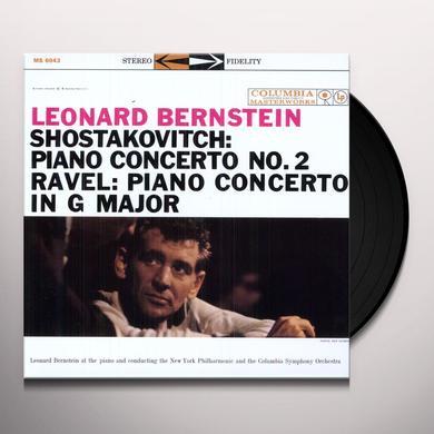 Leonard Shostakovitch / Ravel / Bernstein PIANOT CONCERTO 2 / PIANO CONCERTO IN G MAJOR Vinyl Record