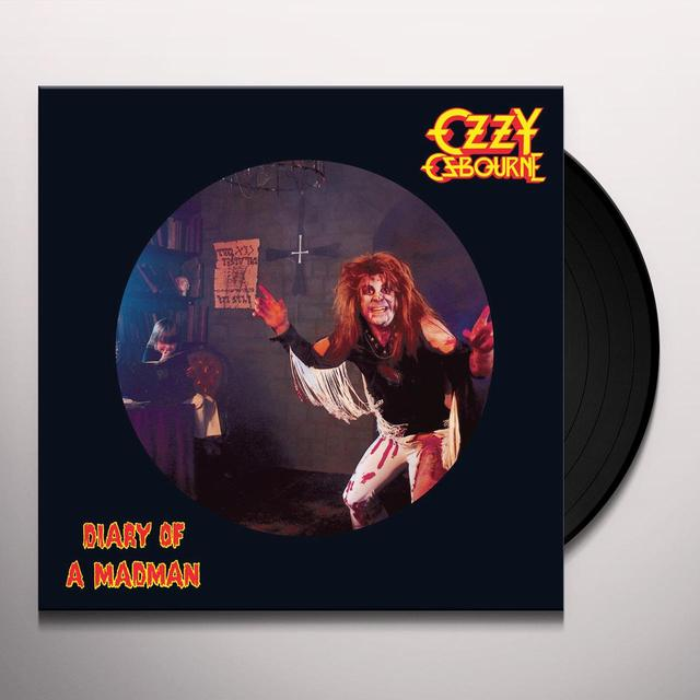 Ozzy Osbourne DIARY OF A MADMAN (PICTURE DISC) Vinyl Record - Picture Disc, Remastered