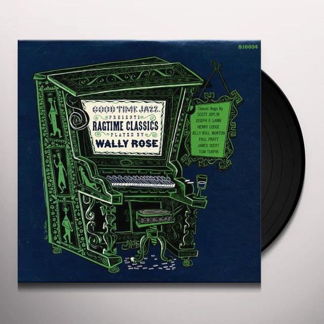 RAGTIME CLASSICS PLAYED BY WALLY ROSE Vinyl Record