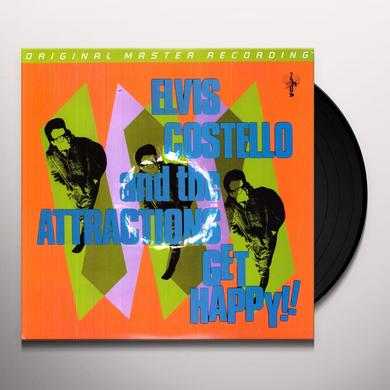 Elvis Costello & The Attractions GET HAPPY Vinyl Record - Limited Edition, 180 Gram Pressing