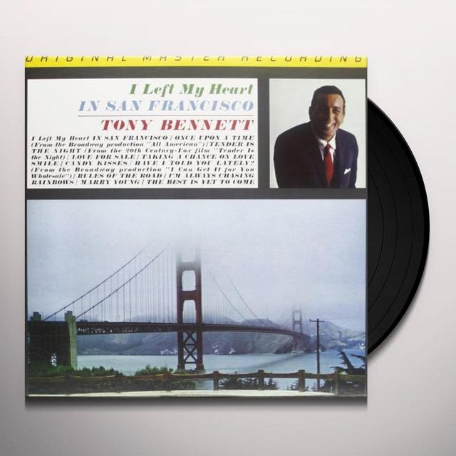 Tony Bennett I LEFT MY HEART IN SAN FRANCISCO Vinyl Record - Limited Edition, 180 Gram Pressing