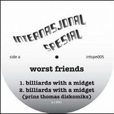 Worst Friends BILLIARDS WITH A MIDGET Vinyl Record