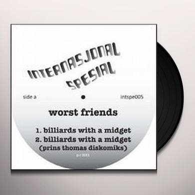 Worst Friends BILLIARDS WITH A MIDGET (EP) Vinyl Record