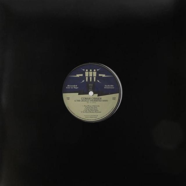 Conan O'Brien THIRD MAN LIVE 06-10-2010 Vinyl Record